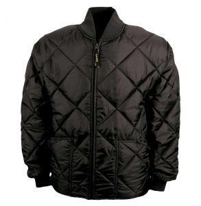 Made in the USA - Bravest Classic Diamond Quilted Chore Coat - Black