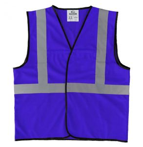 Enhanced Visibility Economy Work Zone Hook and Loop Safety Vest - Royal Blue | Front