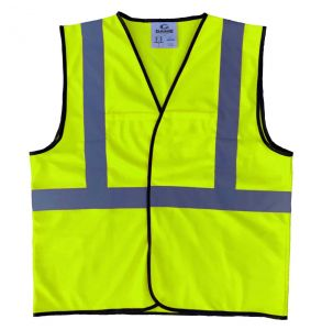 Enhanced Visibility Economy Work Zone Hook and Loop Safety Vest - Yellow | Front