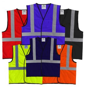 Enhanced Visibility Economy Work Zone Hook and Loop Safety Vest