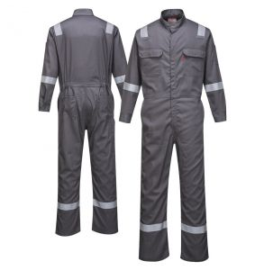 Portwest FR94 Enhanced Visibility Bizflame 88/12 Iona ARC-2 FR Coverall | Grey