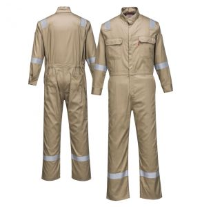 Portwest FR94 Enhanced Visibility Bizflame 88/12 Iona ARC-2 FR Coverall | Khaki