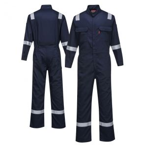 Portwest FR94 Enhanced Visibility Bizflame 88/12 Iona ARC-2 FR Coverall | Navy
