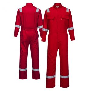 Portwest FR94 Enhanced Visibility Bizflame 88/12 Iona ARC-2 FR Coverall | Red