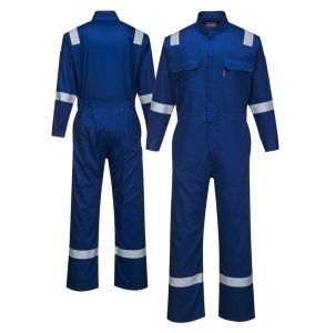 Portwest FR94 Enhanced Visibility Bizflame 88/12 Iona ARC-2 FR Coverall | Royal Blue