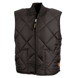 Finest Classic Diamond Quilted Vest | Black - Front
