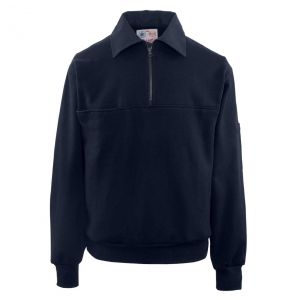 Firefighters Canvas Collar Quarter-Zip Work Shirt