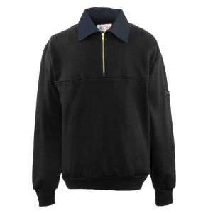 Firefighters Denim Collar Quarter-Zip Defender Work Shirt | Black