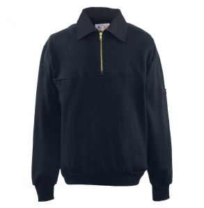 Firefighters Denim Collar Quarter-Zip Defender Work Shirt | Navy
