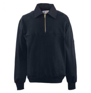 Firefighters Denim Collar Quarter-Zip Defender Work Shirt | Navy