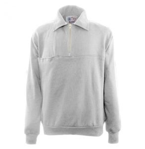 Firefighters Quarter-Zip Work Shirt | Grey