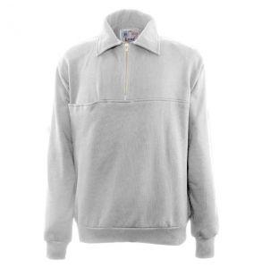 Firefighters Quarter-Zip Work Shirt | Grey