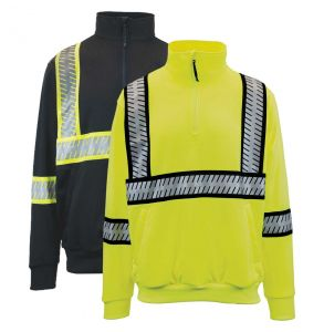G-clipse Series Hi Vis ANSI Class 3 Contrast Survivor Quarter-Zip Sweatshirt