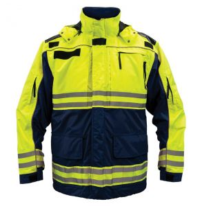 Hi Vis ANSI Class 2 All Weather 3-in-1 Rescue Safety Parka - Navy Blue | Front