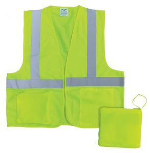 Hi Vis ANSI Class 2 Pack-Away Hook and Loop Safety Vest