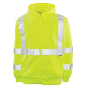 Hi Vis ANSI Class 3 Mack Zip-Up Hoodie Safety Sweatshirt | Front