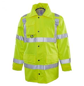 Hi Vis ANSI Class 3 The Safety Rain Jacket | Front