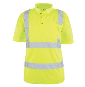 Hi Vis ANSI Class 2 Game-Wick Deluxe Foreman Short Sleeve Safety Polo