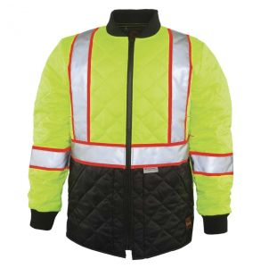 Hi Vis ANSI Class 3 Contrast Quilted Safety Jacket