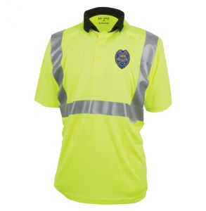 Hi Vis ANSI Class 2 Game-Wick Deluxe Patrolman Short Sleeve Safety Polo *Security patch not included