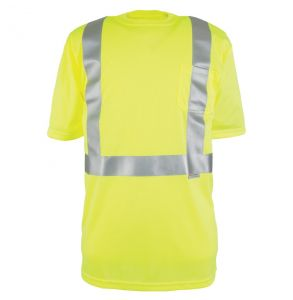 Hi Vis ANSI Class 2 Game-Wick Deluxe Short Sleeve Safety T-Shirt