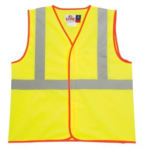 Hi Vis ANSI Class 2 Economy Hook and Loop Safety Vest