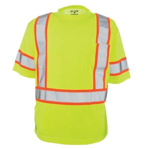 Hi Vis ANSI Class 3 Game-Wick Deluxe Contrast Short Sleeve Safety T-Shirt
