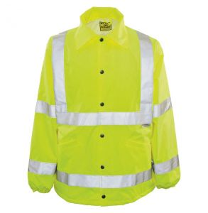 Hi Vis ANSI Class 3 Ultimate Year Round Protector Safety Rain Jacket - Yellow | Front