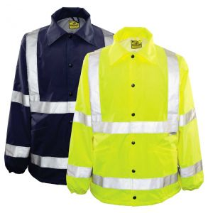 Hi Vis ANSI Class 3 Ultimate Year Round Protector Safety Rain Jacket