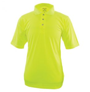 Hi Vis Game-Wick Deluxe Short Sleeve Safety Polo