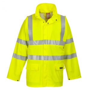 Portwest FR41 Hi Vis ANSI Class 3 Sealtex Flame FR Treated Safety Rain Jacket