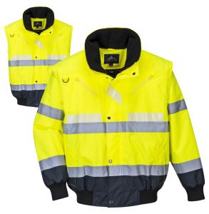 Portwest G465 Hi Vis ANSI Class 3 Glotex 3-in-1 Safety Bomber Jacket