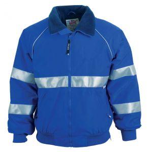 Enhanced Visibility Commander Fleece Lined Safety Jacket | Royal Blue