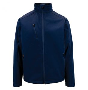 Evoke Soft Shell Micro Fleece Lined Jacket | Navy