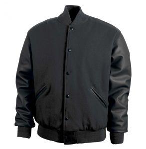 Legendary Varsity Wool / Leather Jacket - Made in the USA | Black / Black