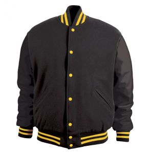 Legendary Varsity Wool / Leather Jacket - Made in the USA | Black / Athletic Gold