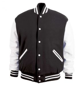 Legendary Varsity Wool / Leather Jacket - Made in the USA | Black / White