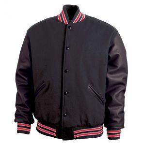 Legendary Varsity Wool / Leather Jacket - Made in the USA | Black / Red / White