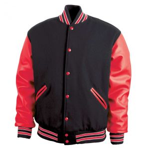 Legendary Varsity Wool / Leather Jacket - Made in the USA | Red - Black / Red / White