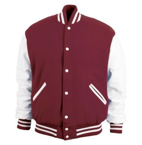 Legendary Varsity Wool / Leather Jacket - Made in the USA | Maroon / White