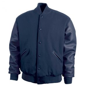 Legendary Varsity Wool / Leather Jacket - Made in the USA | Navy